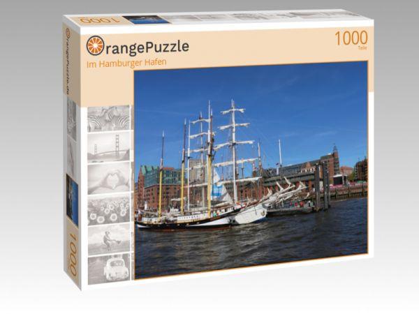 """Puzzle Motiv """"Im Hamburger Hafen"""" - Puzzle-Schachtel zu 1000 Teile Puzzle"""