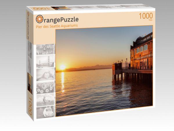 """Puzzle Motiv """"Pier des Seattle Aquariums"""" - Puzzle-Schachtel zu 1000 Teile Puzzle"""