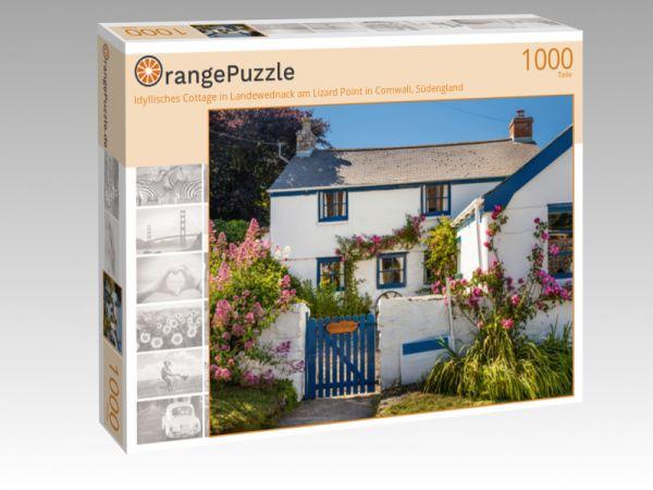 """Puzzle Motiv """"Idyllisches Cottage in Landewednack am Lizard Point in Cornwall, Südengland"""" - Puzzle-Schachtel zu 1000 Teile Puzzle"""