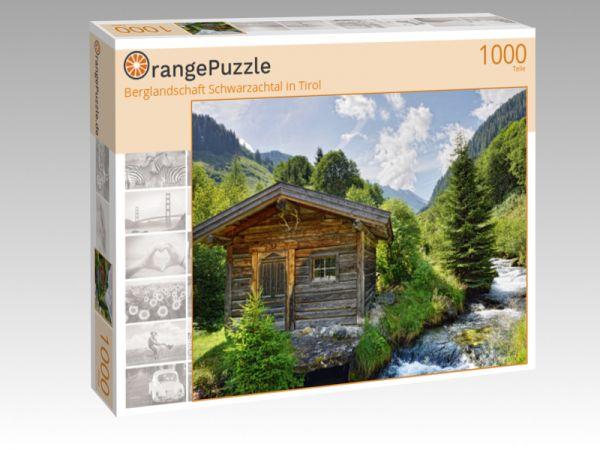 """Puzzle Motiv """"Berglandschaft Schwarzachtal in Tirol"""" - Puzzle-Schachtel zu 1000 Teile Puzzle"""