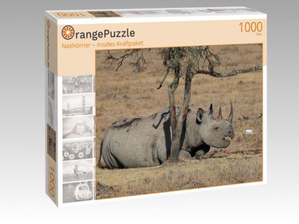 """Puzzle Motiv """"Nashörner – müdes Kraftpaket"""" - Puzzle-Schachtel zu 1000 Teile Puzzle"""