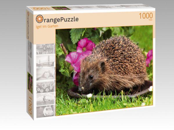 """Puzzle Motiv """"Igel im Garten"""" - Puzzle-Schachtel zu 1000 Teile Puzzle"""