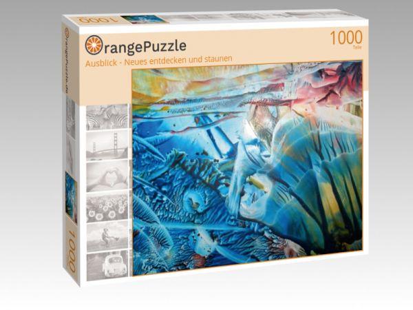 """Puzzle Motiv """"Ausblick - Neues entdecken und staunen"""" - Puzzle-Schachtel zu 1000 Teile Puzzle"""