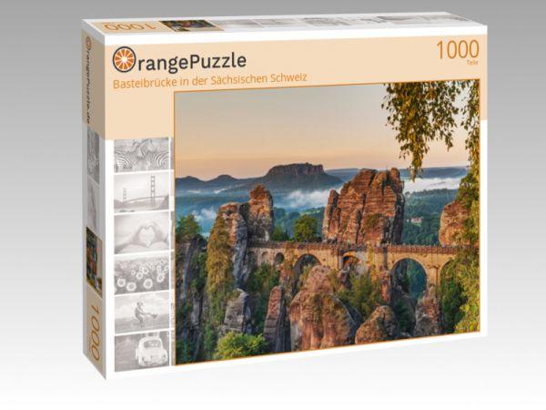 """Puzzle Motiv """"Basteibrücke in der Sächsischen Schweiz"""" - Puzzle-Schachtel zu 1000 Teile Puzzle"""
