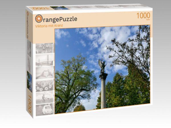 """Puzzle Motiv """"Viktoria mit Kranz"""" - Puzzle-Schachtel zu 1000 Teile Puzzle"""