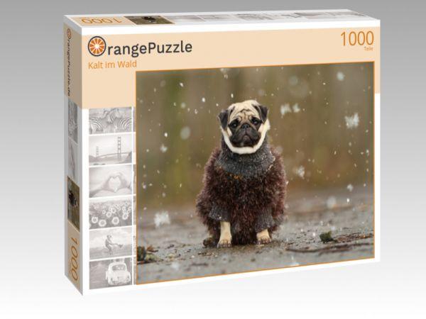 """Puzzle Motiv """"Kalt im Wald"""" - Puzzle-Schachtel zu 1000 Teile Puzzle"""