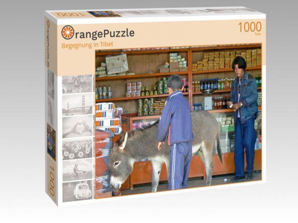 """Puzzle Motiv """"Begegnung in Tibet"""" - Puzzle-Schachtel zu 1000 Teile Puzzle"""