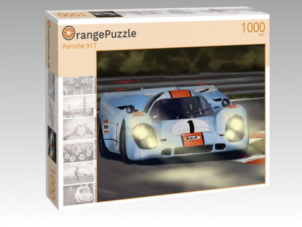 """Puzzle Motiv """"Porsche 917"""" - Puzzle-Schachtel zu 1000 Teile Puzzle"""