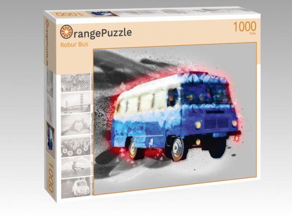 """Puzzle Motiv """"Robur Bus"""" - Puzzle-Schachtel zu 1000 Teile Puzzle"""