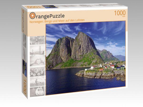"""Puzzle Motiv """"Norwegen: Berge und Meer auf den Lofoten"""" - Puzzle-Schachtel zu 1000 Teile Puzzle"""