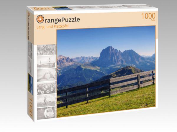 "Puzzle Motiv ""Lang- und Plattkofel"" - Puzzle-Schachtel zu 1000 Teile Puzzle"