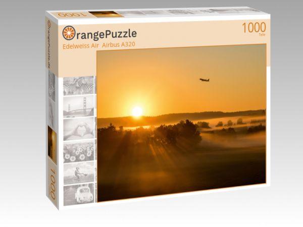 "Puzzle Motiv ""Edelweiss Air  Airbus A320"" - Puzzle-Schachtel zu 1000 Teile Puzzle"