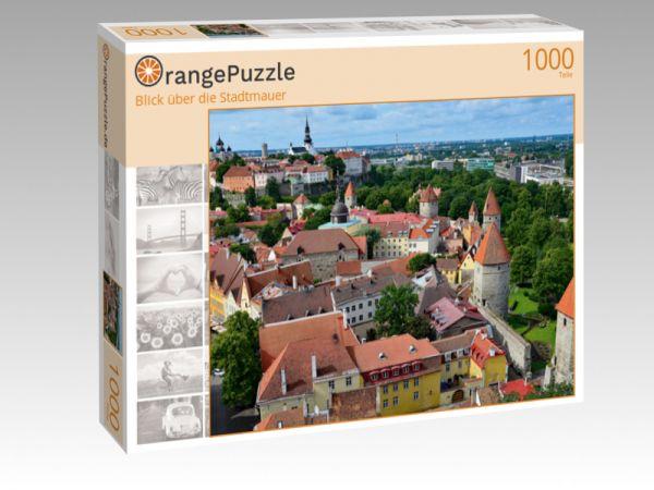 """Puzzle Motiv """"Blick über die Stadtmauer"""" - Puzzle-Schachtel zu 1000 Teile Puzzle"""