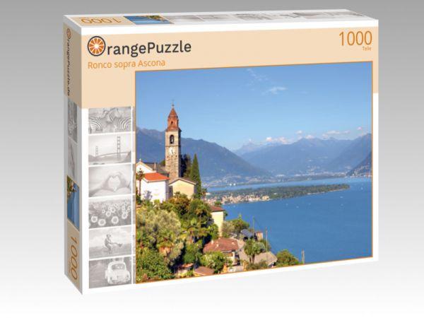 """Puzzle Motiv """"Ronco sopra Ascona"""" - Puzzle-Schachtel zu 1000 Teile Puzzle"""