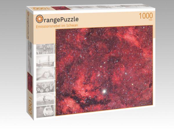"""Puzzle Motiv """"Emissionsnebel im Schwan"""" - Puzzle-Schachtel zu 1000 Teile Puzzle"""