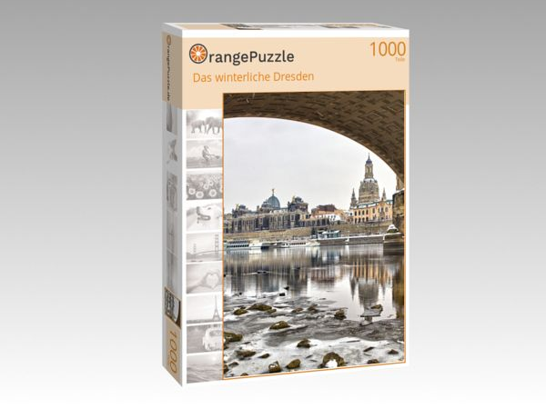 """Puzzle Motiv """"Das winterliche Dresden"""" - Puzzle-Schachtel zu 1000 Teile Puzzle"""