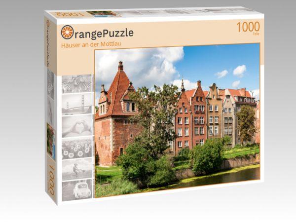 """Puzzle Motiv """"Häuser an der Mottlau"""" - Puzzle-Schachtel zu 1000 Teile Puzzle"""