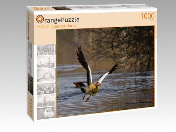 """Puzzle Motiv """"Im Tiefflug auf der Flucht"""" - Puzzle-Schachtel zu 1000 Teile Puzzle"""