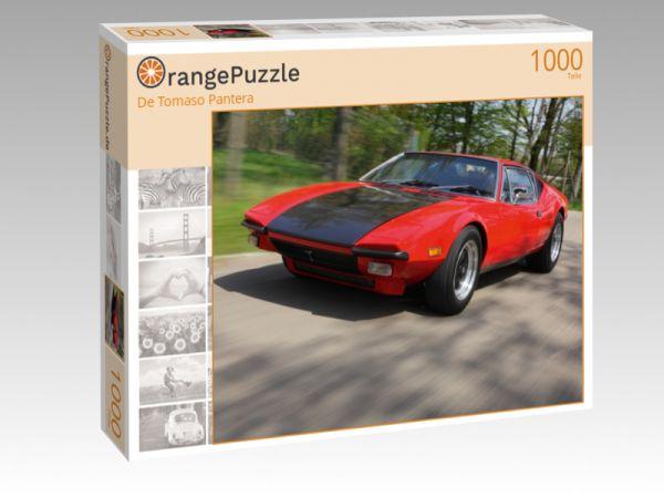 """Puzzle Motiv """"De Tomaso Pantera"""" - Puzzle-Schachtel zu 1000 Teile Puzzle"""