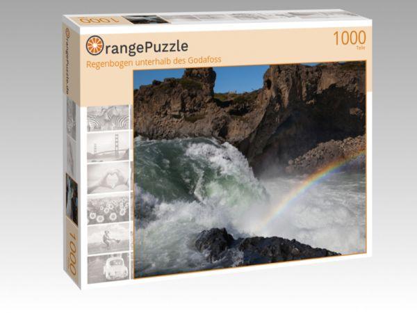 """Puzzle Motiv """"Regenbogen unterhalb des Godafoss"""" - Puzzle-Schachtel zu 1000 Teile Puzzle"""