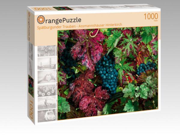 """Puzzle Motiv """"Spätburgunder Trauben - Assmannshäuser Hinterkirch"""" - Puzzle-Schachtel zu 1000 Teile Puzzle"""