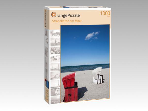 "Puzzle Motiv ""Strandkörbe am Meer"" - Puzzle-Schachtel zu 1000 Teile Puzzle"