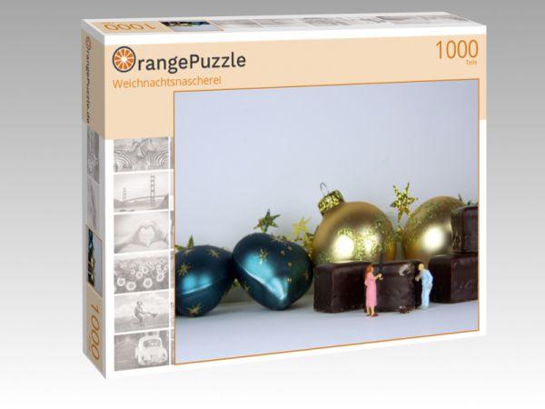 """Puzzle Motiv """"Weichnachtsnascherei"""" - Puzzle-Schachtel zu 1000 Teile Puzzle"""