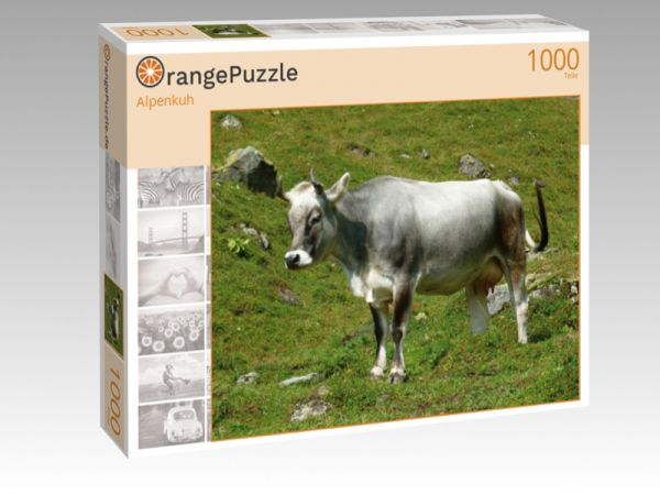 """Puzzle Motiv """"Alpenkuh"""" - Puzzle-Schachtel zu 1000 Teile Puzzle"""