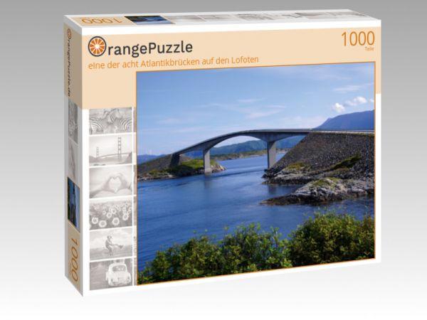 """Puzzle Motiv """"eIne der acht Atlantikbrücken auf den Lofoten"""" - Puzzle-Schachtel zu 1000 Teile Puzzle"""