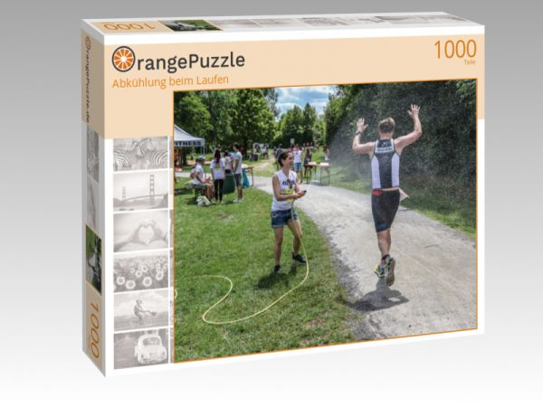 """Puzzle Motiv """"Abkühlung beim Laufen"""" - Puzzle-Schachtel zu 1000 Teile Puzzle"""