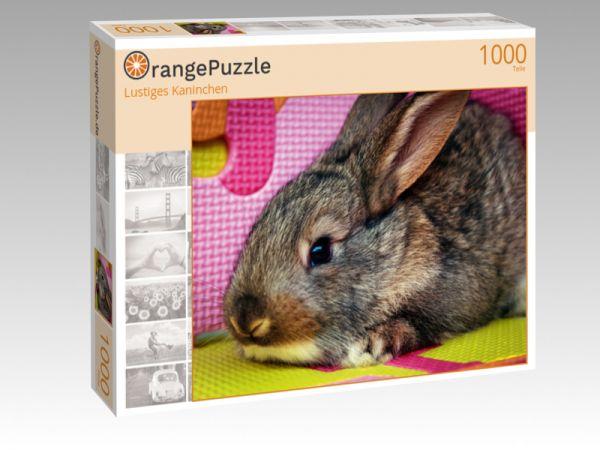 """Puzzle Motiv """"Lustiges Kaninchen"""" - Puzzle-Schachtel zu 1000 Teile Puzzle"""