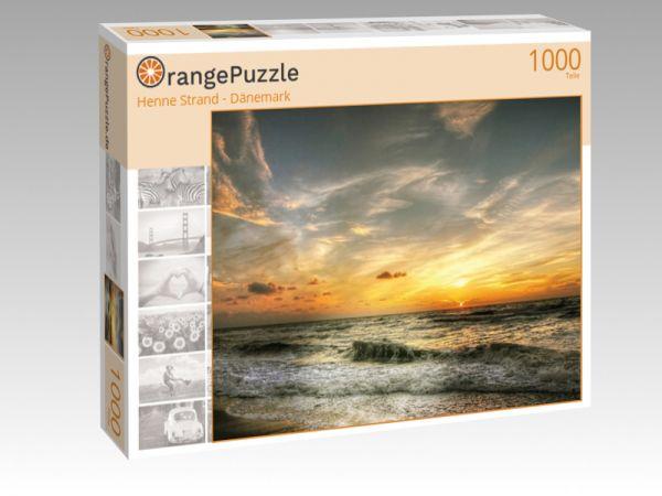 """Puzzle Motiv """"Henne Strand - Dänemark"""" - Puzzle-Schachtel zu 1000 Teile Puzzle"""