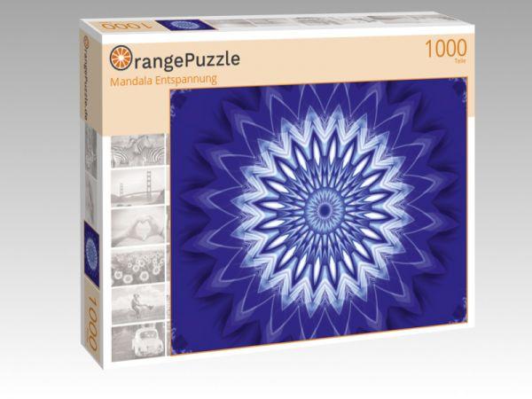 """Puzzle Motiv """"Mandala Entspannung"""" - Puzzle-Schachtel zu 1000 Teile Puzzle"""