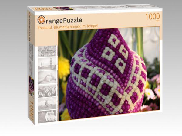 """Puzzle Motiv """"Thailand, Blumenschmuck im Tempel"""" - Puzzle-Schachtel zu 1000 Teile Puzzle"""