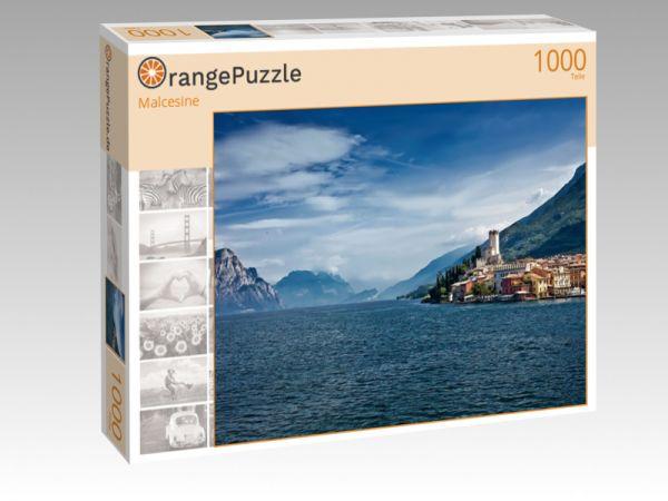 """Puzzle Motiv """"Malcesine"""" - Puzzle-Schachtel zu 1000 Teile Puzzle"""