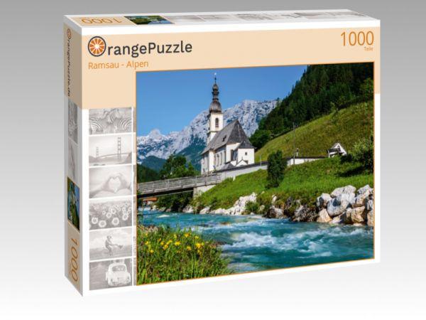 """Puzzle Motiv """"Ramsau - Alpen"""" - Puzzle-Schachtel zu 1000 Teile Puzzle"""