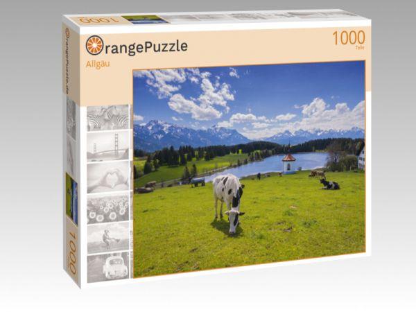 "Puzzle Motiv ""Allgäu"" - Puzzle-Schachtel zu 1000 Teile Puzzle"