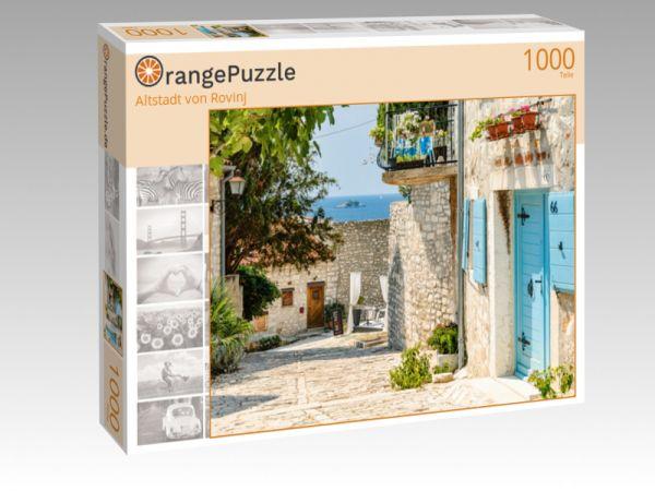 """Puzzle Motiv """"Altstadt von Rovinj"""" - Puzzle-Schachtel zu 1000 Teile Puzzle"""