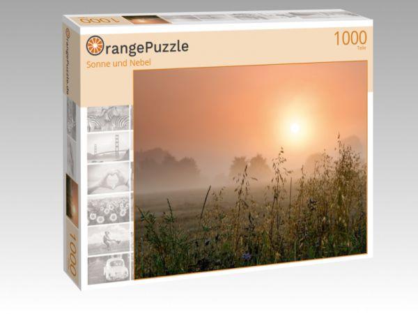 """Puzzle Motiv """"Sonne und Nebel"""" - Puzzle-Schachtel zu 1000 Teile Puzzle"""