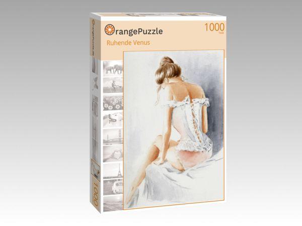 """Puzzle Motiv """"Ruhende Venus"""" - Puzzle-Schachtel zu 1000 Teile Puzzle"""