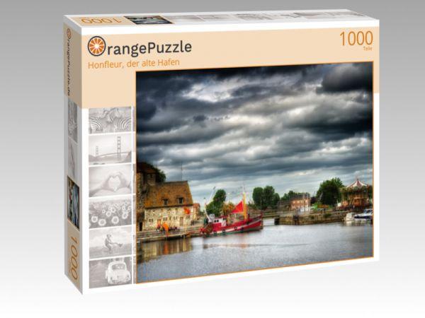 """Puzzle Motiv """"Honfleur, der alte Hafen"""" - Puzzle-Schachtel zu 1000 Teile Puzzle"""