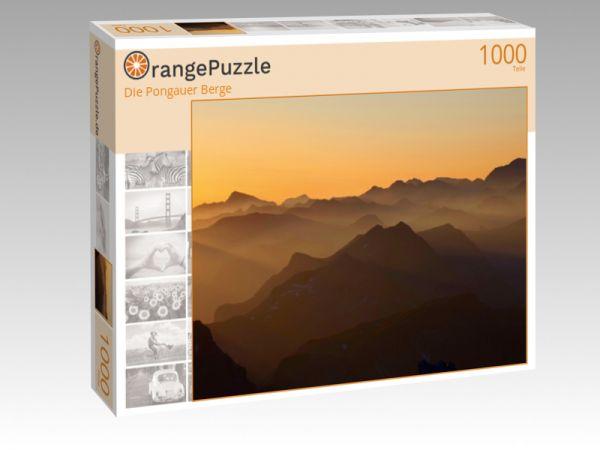 "Puzzle Motiv ""Die Pongauer Berge"" - Puzzle-Schachtel zu 1000 Teile Puzzle"