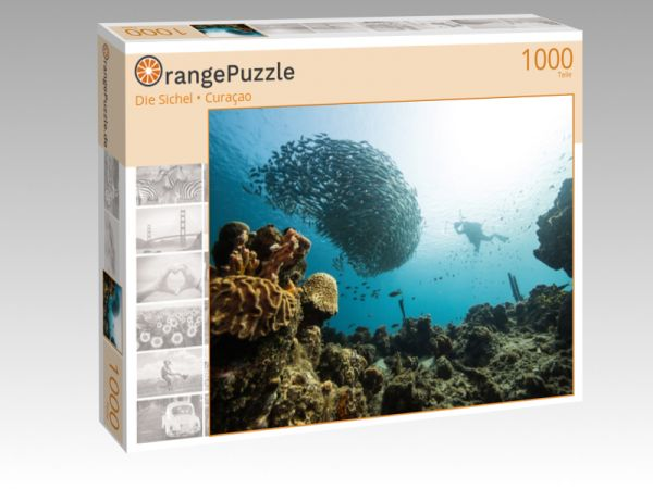 """Puzzle Motiv """"Die Sichel • Curaçao"""" - Puzzle-Schachtel zu 1000 Teile Puzzle"""