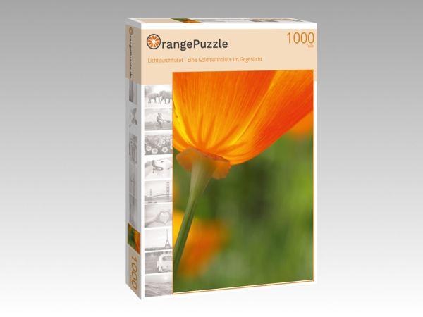 """Puzzle Motiv """"Lichtdurchflutet - Eine Goldmohnblüte im Gegenlicht"""" - Puzzle-Schachtel zu 1000 Teile Puzzle"""