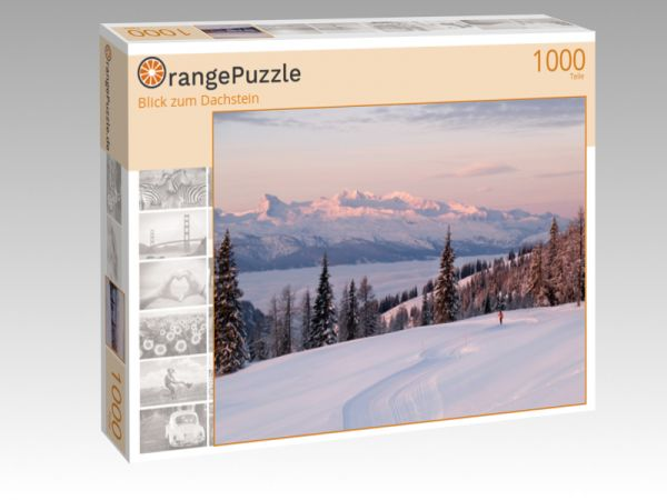 """Puzzle Motiv """"Blick zum Dachstein"""" - Puzzle-Schachtel zu 1000 Teile Puzzle"""