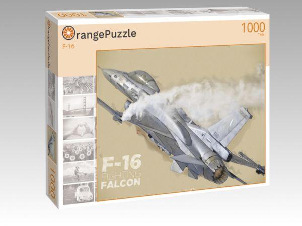 """Puzzle Motiv """"F-16"""" - Puzzle-Schachtel zu 1000 Teile Puzzle"""