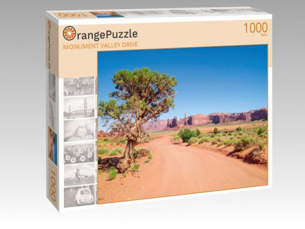 """Puzzle Motiv """"MONUMENT VALLEY DRIVE"""" - Puzzle-Schachtel zu 1000 Teile Puzzle"""