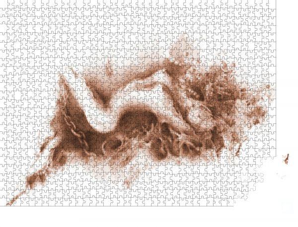 """Puzzle-Motiv """"Die lügende nackte Frau. Bleistiftzeichnung"""" - Puzzle-Schachtel zu 1000 Teile Puzzle"""