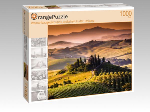 """Puzzle Motiv """"Weinanbaugebiet und Landschaft in der Toskana"""" - Puzzle-Schachtel zu 1000 Teile Puzzle"""