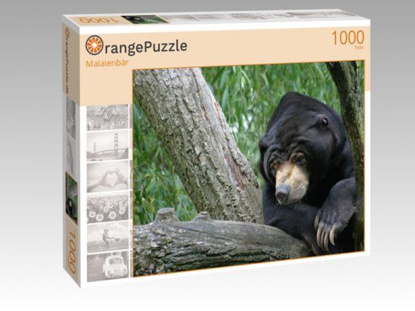 """Puzzle Motiv """"Malaienbär"""" - Puzzle-Schachtel zu 1000 Teile Puzzle"""